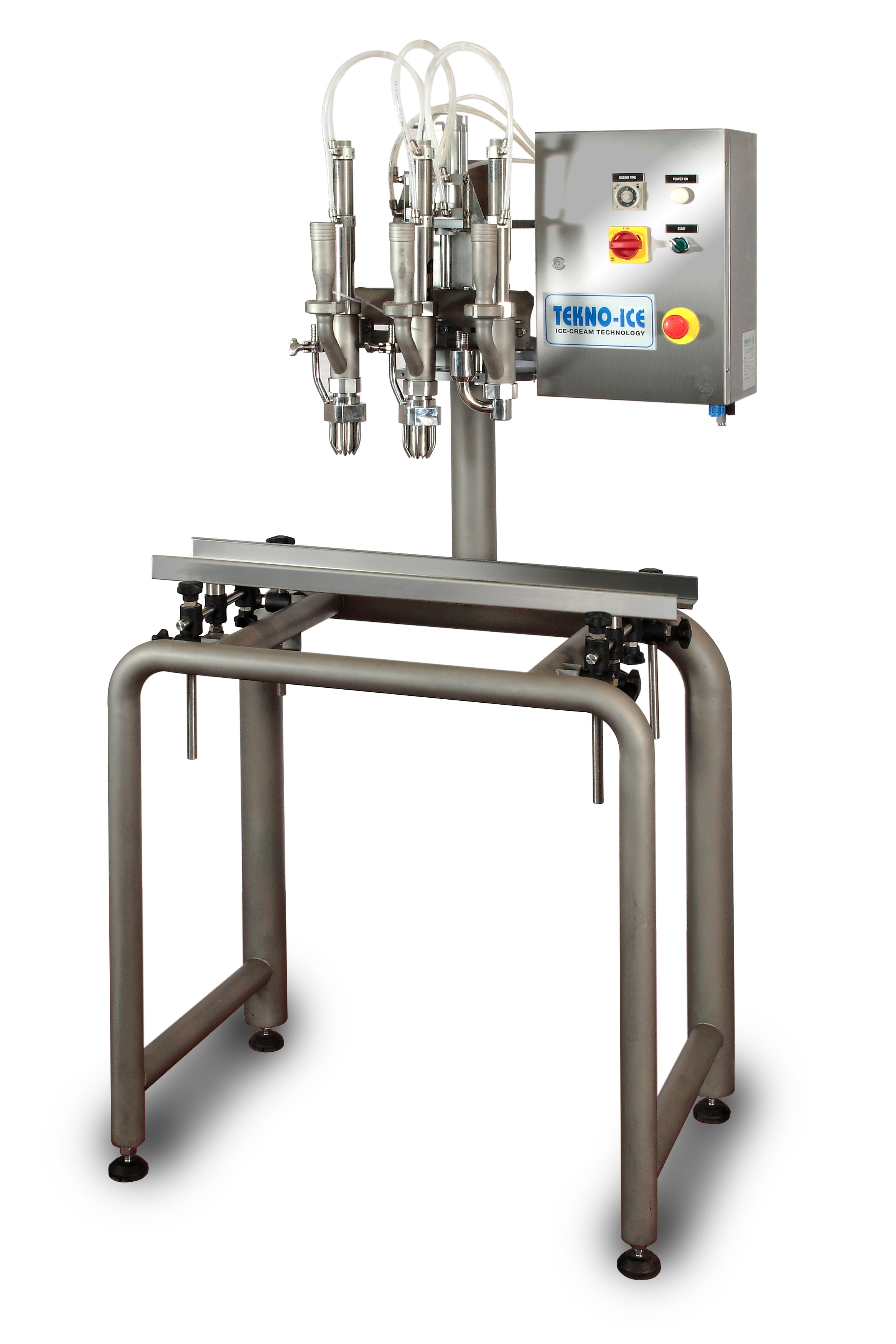 Filling machine for ice cream in bulk